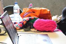Colourful Crocheting - photo copyright Milo McLaughlin