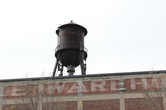 The iconic water tower near Hotel2Tango
